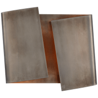 Piel Left Twisted Sconce in Pewter