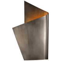 Piel Left Wrapped Sconce in Pewter
