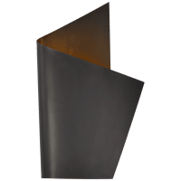 Piel Right Wrapped Sconce in Bronze