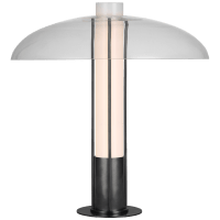 Troye Medium Table Lamp in Bronze with Clear Glass