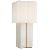 Monelle Medium Table Lamp in Ivory with Linen Shade