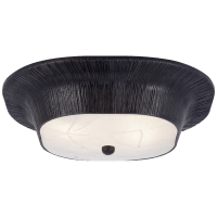 Utopia Round Sconce in Aged Iron with Fractured Glass