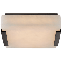 Covet Small Flush Mount in Bronze with Alabaster