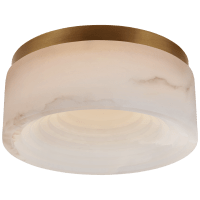 Otto Small Flush Mount in Antique-Burnished Brass with Alabaster
