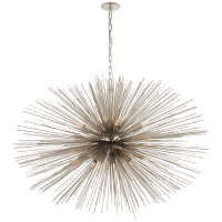 Strada Large Oval Chandelier in Polished Nickel