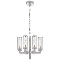 Liaison Single Tier Chandelier in Polished Nickel with Clear Glass