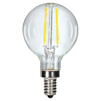 2.5W G16.5 Clear LED Dimmable E12 2700K 200lm 120V Candelabra Base