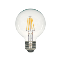 5.5W G25 Clear LED Dimmable E26 500lm 120V Medium Base T20