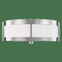 Flynn Medium Flush Mount Polished Nickel