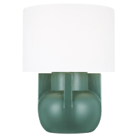 William Wide Table Lamp Matte Green Bulbs Inc