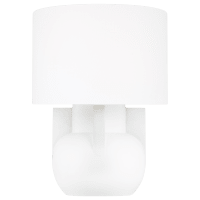 William Wide Table Lamp Matte Ivory Bulbs Inc