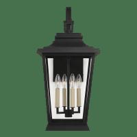 Warren Large Lantern Textured Black