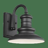 Redding Station Small Lantern Textured Black