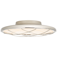"Dot 13"" Caged Flush Mount in Polished Nickel"