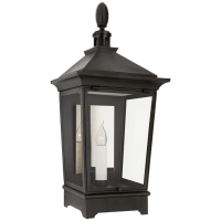 Rosedale Classic Small 3/4 Wall Lantern in French Rust with Clear Glass