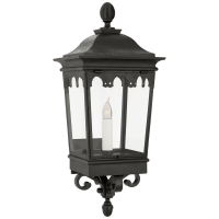 Rosedale Grand Small Bracketed Wall Lantern in French Rust with Clear Glass
