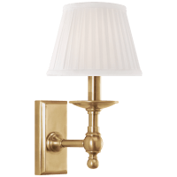 Payson Sconce in Natural Brass with Silk Shade