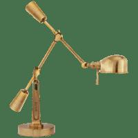 RL '67 Boom Arm Desk Lamp in Natural Brass