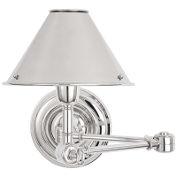 Anette Swing Arm Sconce in Polished Nickel