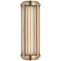 Perren Small Wall Sconce in Natural Brass and Glass Rods