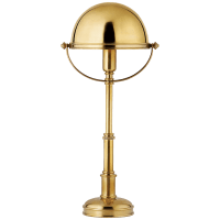 Carthage Mini Lamp in Natural Brass