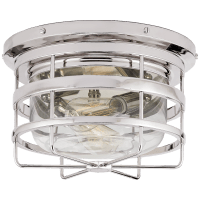 Crosby Flush Mount in Polished Nickel with Clear Glass