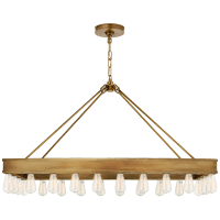 Roark Rectangular Chandelier in Natural Brass