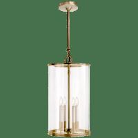 Modern Large Lantern in Natural Brass