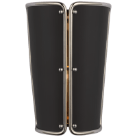 Hastings Small Sconce in Polished Nickel with Black Shade