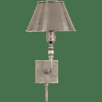 Swivel Head Wall Lamp in Antique Nickel
