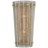 Cadence Medium Sconce in Hand-Rubbed Antique Brass with Antique Mirror