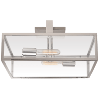 Halle Large Flush Mount in Polished Nickel with Clear Glass
