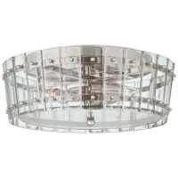 Cadence Medium Single-Tier Flush Mount in Polished Nickel with Antique Mirror