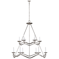 Choros Two-Tier Chandelier in Polished Nickel