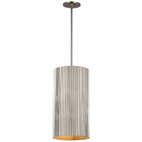 Rivers Medium Fluted Pendant in Polished Nickel