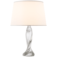 Chloe Table Lamp in Clear Crystal with Silk Shade