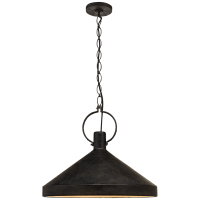 Limoges Grande Pendant in Natural Rust with Aged Iron Shade