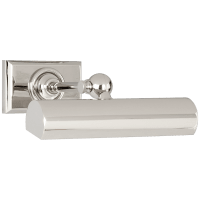 "8"" Cabinet Maker's Picture Light in Polished Nickel"