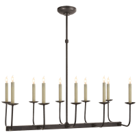 Linear Branched Chandelier in Bronze