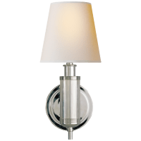 Longacre Sconce in Polished Nickel with Natural Paper Shade
