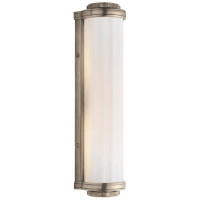 Milton Road Bath Light in Antique Nickel with White Glass