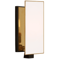 Albertine Petite Sconce in Bronze and Brass with White Glass Diffuser