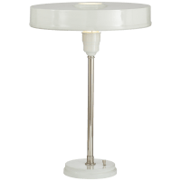 Carlo Table Lamp in Polished Nickel and Antique White