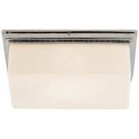 Newhouse Block Wall/Ceiling Light in Polished Nickel with White Glass