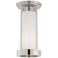 Calix Tall Flush in Polished Nickel with White Glass