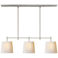 Bryant Small Billiard in Polished Nickel with Natural Paper Shades