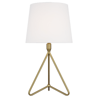 Dylan Short Table Lamp Burnished Brass Bulbs Inc