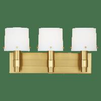 Palma 3 - Light Vanity Burnished Brass