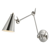 Signoret 2 - Arm Library Sconce Polished Nickel
