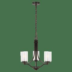 Elmwood Park Three Light Chandelier Bronze